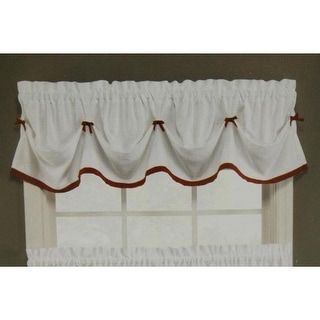 Saturday Knight Kate Contrast Trim Traditional Valance