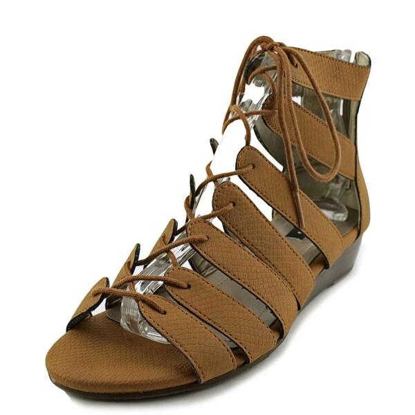 Array Bailey Women W Open Toe Synthetic Brown Wedge Sandal