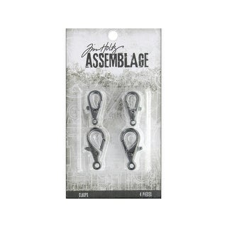 Tha20053 Tim Holtz Assemblage Clasps Lobster Claws Lg Silvr