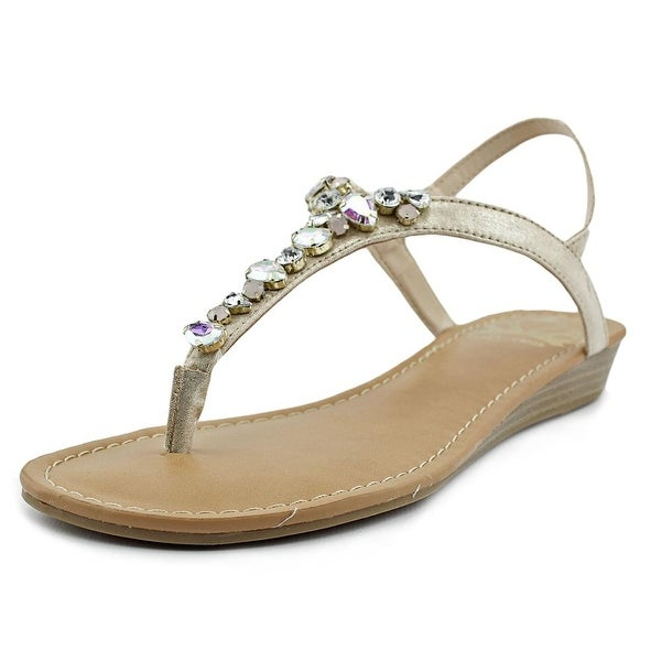Fergalicious Tasso Women Open-Toe Canvas Gold Slingback Sandal