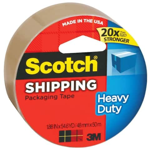 "Scotch 3850T Heavy Duty Shipping Packaging Tape, 1.88"" x 54.6 Yd"