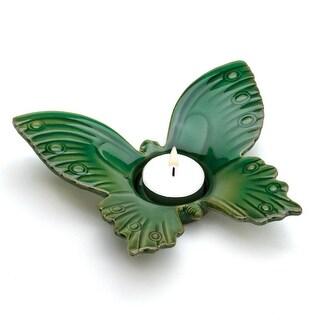 Green Butterfly Tealight Holder