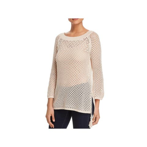 Love Scarlett Womens Pullover Sweater Embellished Ribbed Trim - XL