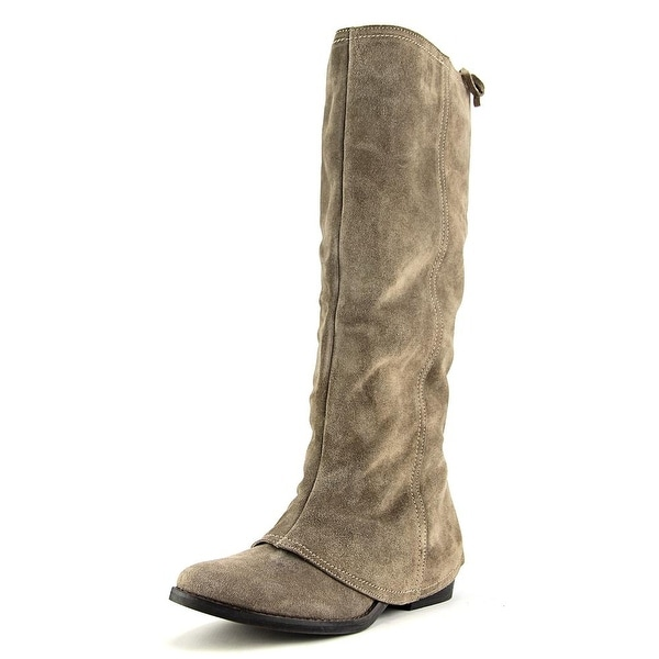 Naughty Monkey Artic Solstice Women Round Toe Suede Gray Knee High Boot