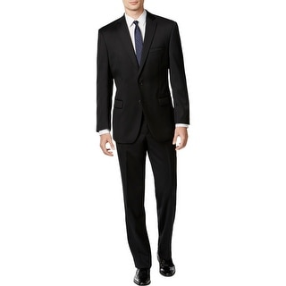 Link to Calvin Klein Mens Mitchell Two-Button Suit Wool Slim Fit - Black Similar Items in Suits & Suit Separates