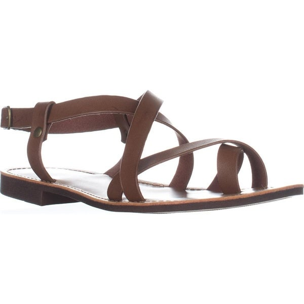 White Mountain Shoes Caela Toe Loop Sandals, Walnut/Smooth
