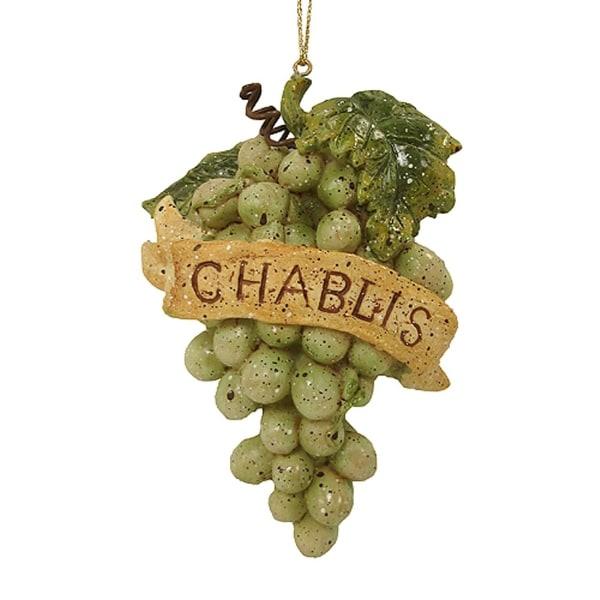 "4"" Vintage Tuscan Chablis Wine Grapes Cluster Christmas Ornament"