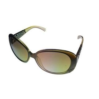 Esprit Womens Sunglass Khaki / Clear  Fashion Wrap, Brown Gradient Lens 19377 517