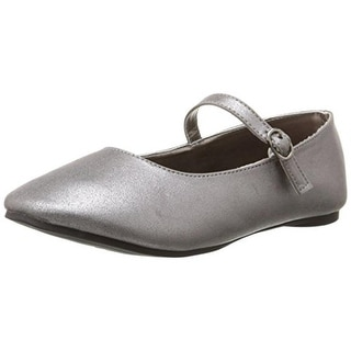 Kenneth Cole Reaction Girls Last Tap Ballet Flats Metallic