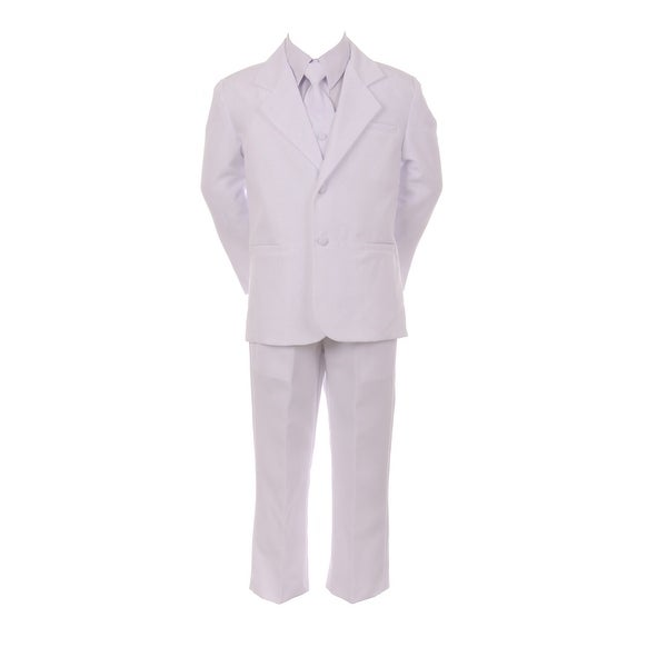 Baby Boys White Jacket Pants Shirt Vest 5 pcs Special Occasion Suit 18M