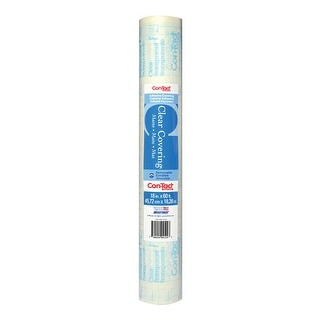"""Con-Tact 60F-C9AC16-01 Shelf Liner, Clear, 18"""" X 60'"""