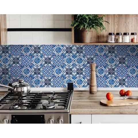 Blue Multi Mosaic Peel And Stick Tiles