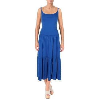 Lauren Ralph Lauren Womens Casual Dress Tiered Spaghetti Strap - l