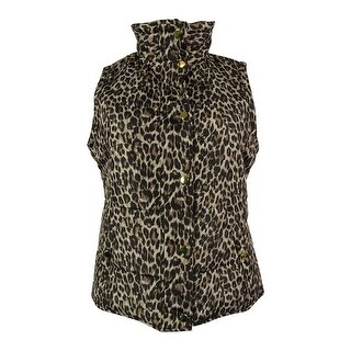 Style & Co. Women's Animal Print Vest - neutral combo - pm