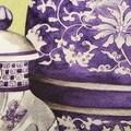 """Luxury Purple Four Vase Printing Pillow 18""""X18"""" - Thumbnail 3"""
