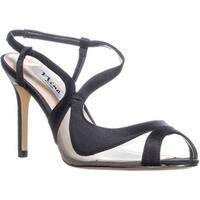 Nina Regina Slim Heel Slingback Sandals, Black - 9.5 us / 39.5 eu