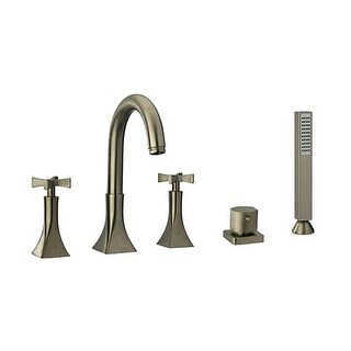 Fortis 8510900 Siena Deck Mounted Roman Tub Faucet Trim with Built-In Diverter - Includes Personal Hand Shower