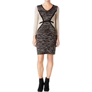 Calvin Klein Womens Sweaterdress Knit Colorblock