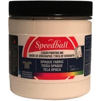 Opaque Fabric Screen Printing Ink 8 Ounces-Pearly White