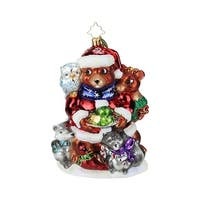 Christopher Radko Forest Family Holiday Christmas Ornament #1019166 - RED