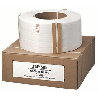 "Nifty Products SSP508HD Poly Strapping 1/2"" x 7200', White"