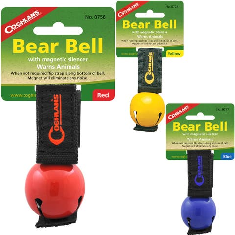 Coghlan's Bear Bell w/ Magnetic Silencer & Carry Strap, Hiking Safety - One Size