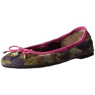 Sam Edelman Girls Fiona Camouflage Slip On Ballet Flats