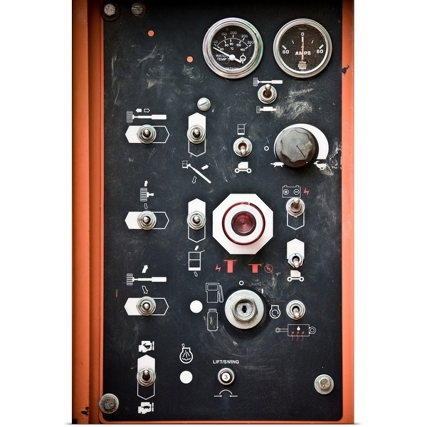 """""""Close-up of control panel"""" Poster Print"""