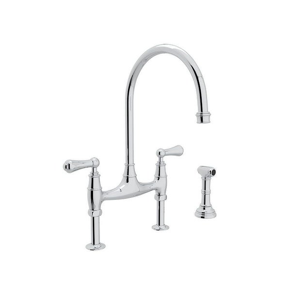 Rohl U.4719L-APC-2 Perrin and Rowe Bridge Kitchen Faucet. Opens flyout.