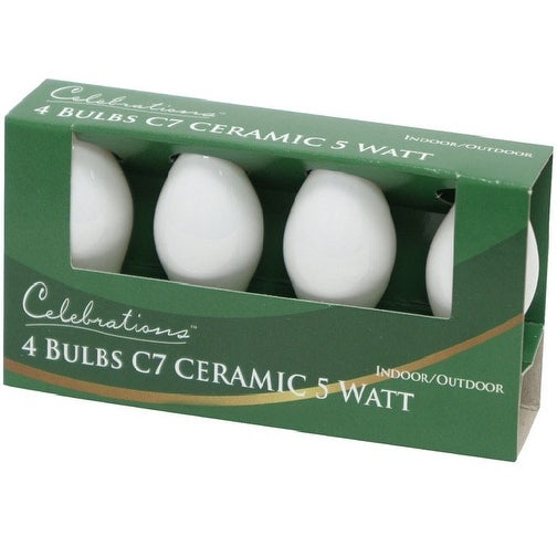 Celebrations UYTY2W11 C7 Ceramic Replacement Bulb, White