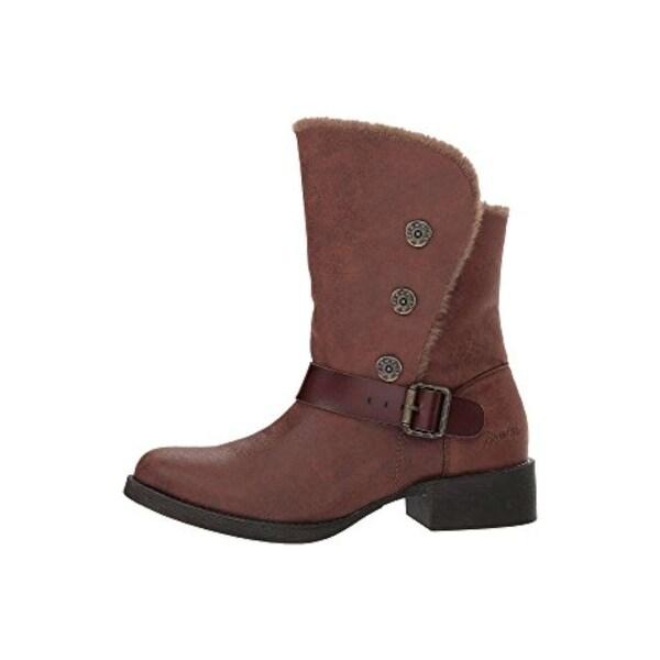 Blowfish Womens katti Fabric Almond Toe Ankle Fashion Boots - 6