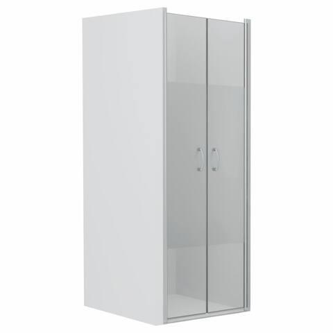 """vidaXL Shower Doors Half Frosted ESG 31.5""""x72.8"""""""