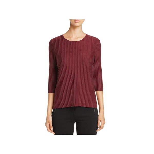 1fdc9ff370 Shop Eileen Fisher Womens Pullover Sweater Merino Wool Round Neck ...