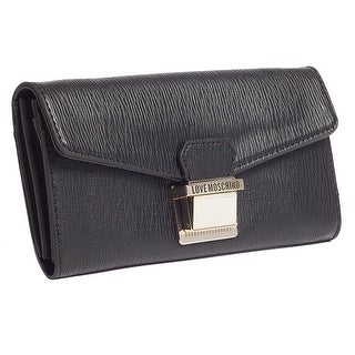Moschino JC5551 0000 Black Zip Around Envelope Wallet