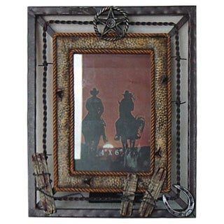 Gift Corral Western Decor Frame Photo Sheriff 4x6 Grey 87-1210