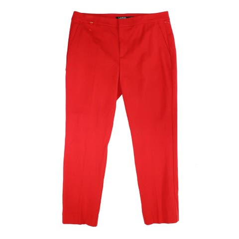 Lauren by Ralph Lauren Womens Pants Red Size 4 Dress Mid-Rise Stretch