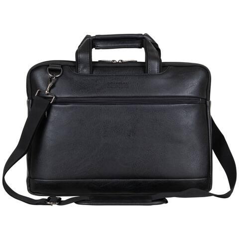 Kenneth Cole Reaction Vegan Leather Slim Double Compartment 16-inch Laptop & Tablet Business Case Bag
