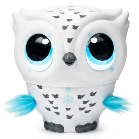 Owleez Flying Baby Owl Interactive Toy with Lights and Sounds (White) - 4.63 x 5.25 x 8.63 inches