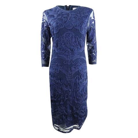 JS Collections Women's Soutache Trimmed Dress (2, Midnight)