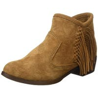 Minnetonka Womens Blake Leather Closed Toe Ankle Fashion Boots