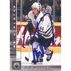 Janne Niinimaa Edmonton Oilers 2001 In The Game Be A Player Autographed Card This item comes with