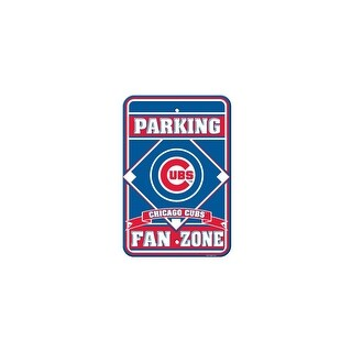 Fremont Die Inc Chicago Cubs Plastic Parking Sign Parking Sign