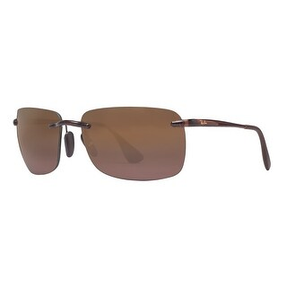 Ray Ban RB4255 604/6B Brown Polarized Purple Mirror Chromance Rimless Sunglasses - 60mm-15mm-135mm