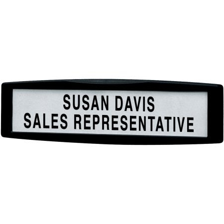 Fellowes, Inc. - Partition Additions Name Plate Displays Name, Title, Or Department Name On Parti
