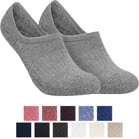 Tesla TM-MZS07 No-Show Comfort Cushion Casual Socks - 6-Pack