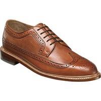 Florsheim Men's Heritage Wingtip Oxford Cognac Smooth Leather/Milled