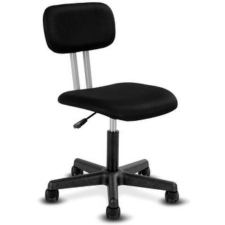 Gymax Armless Mid-back Mesh Office Chair Swivel Height Adjustable Office Desk Task