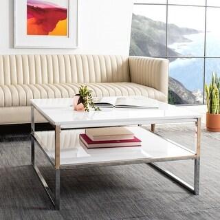 Safavieh Aliza 2-Tier Modern Glam Square Coffee Table