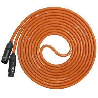 LyxPro Balanced XLR Cable 10 ft Premium Series Professional Microphone Cable, Powered Speakers and Other Pro Devices Cable (Option: Orange)