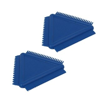 Unique Bargains MS14 Wall Art Rubber Wood Graining Tool Triangular Scraper 8.5cmx8.5cm Blue 2pcs